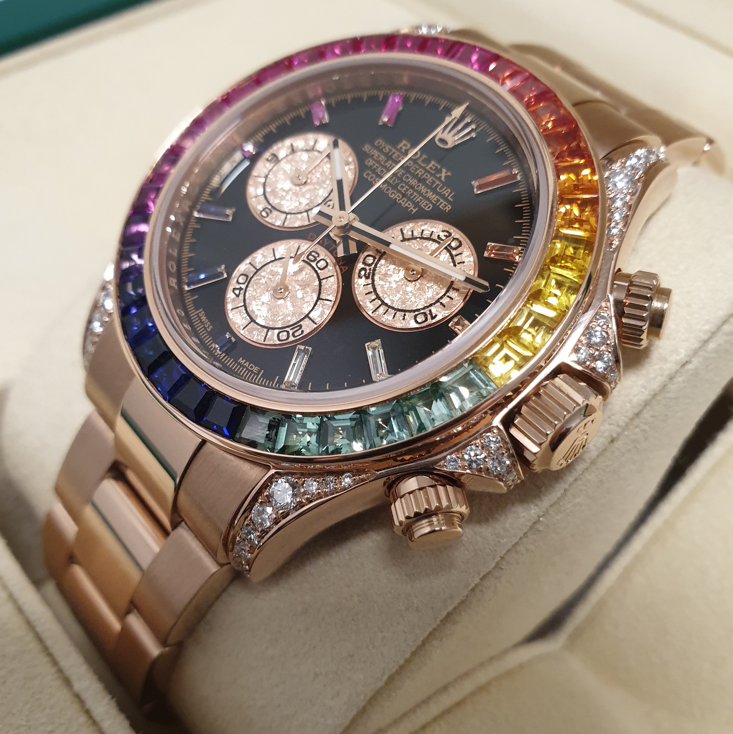 Rolex Daytona Rainbow Custom